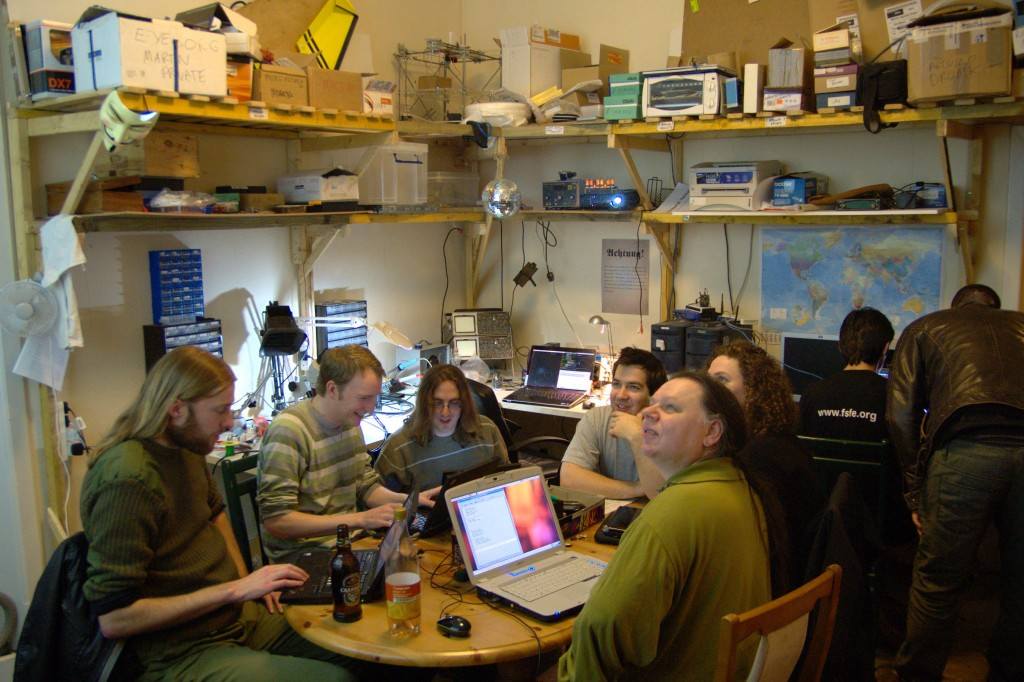 The Edinburgh Hacklab during software night