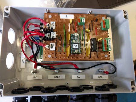 Inside each controller box